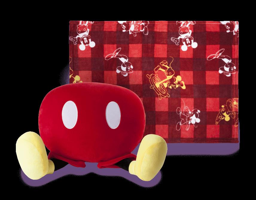 米奇蓋溫暖抱枕毯