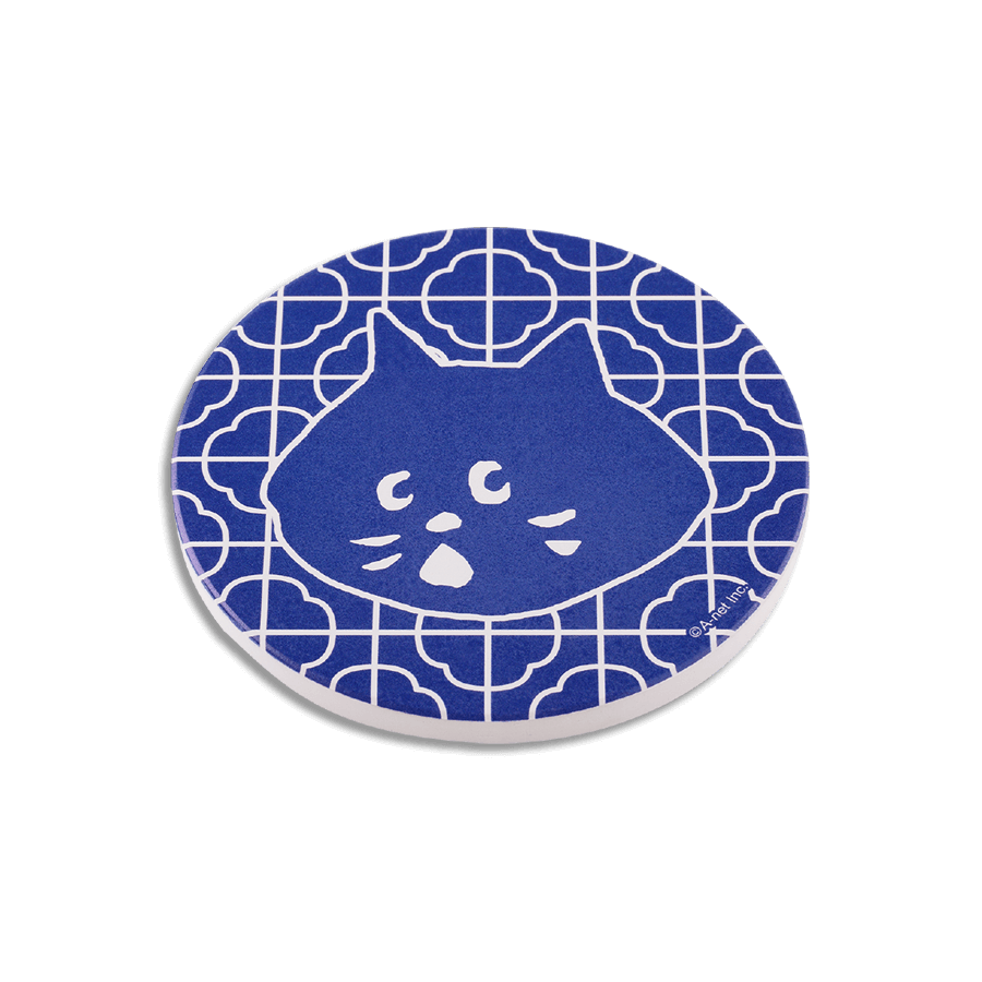 NYA陶瓷吸水杯墊 藍色款